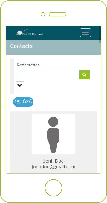démo de l´application E contact de Net Hélium