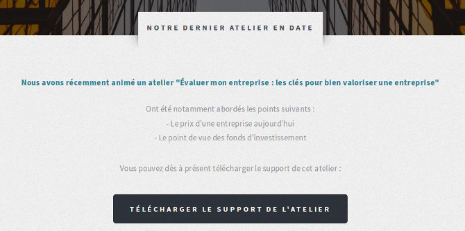 Téléchargement support atelier Aditis Audit