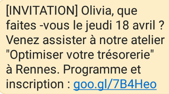 Exemple sms